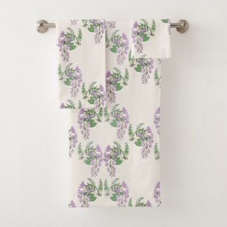 Wisteria Dream Floral Bath Towel Set