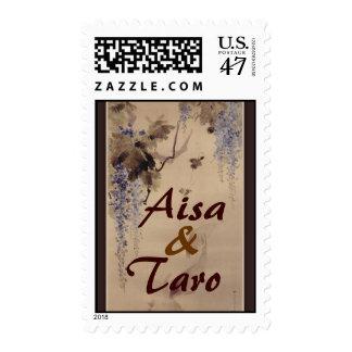 Wisteria dreams ... postage stamp