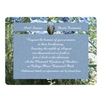 Wisteria Floral Botanical Handfasting 6.5x8.75 Paper Invitation Card