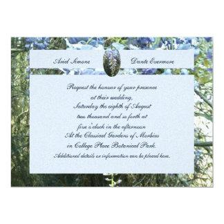 Wisteria Floral Botanical Wedding 6.5x8.75 Paper Invitation Card