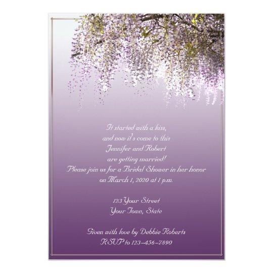 Wisteria Flower Lavender Bridal Shower Invitation