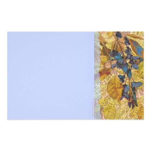 Wisteria Gold and Blue Stationery