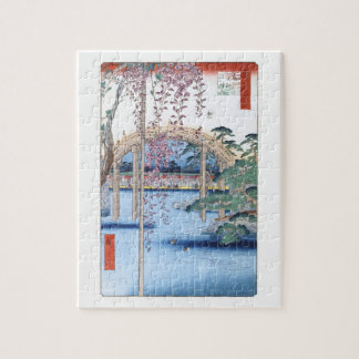 Wisteria Kameido Hiroshige Floral Vintage Fine Art Puzzle