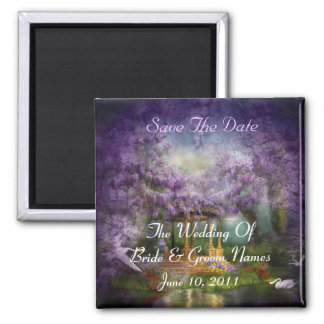 Wisteria Lake Save-The-Date Wedding Magnet