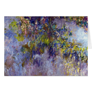 Wisteria (left) by Claudet Monet, Vintage Flowers Card
