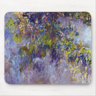 Wisteria (left) by Claudet Monet, Vintage Flowers Mouse Pad