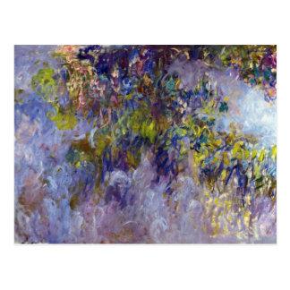Wisteria (left) by Claudet Monet, Vintage Flowers Postcard