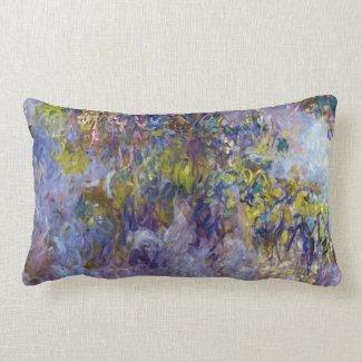 Wisteria (left half) by Claude Monet Pillows