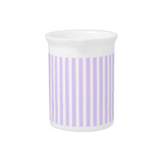 Wisteria Lilac Lavender Orchid & White Stripe Beverage Pitcher