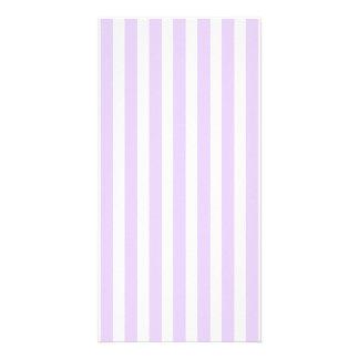 Wisteria Lilac Lavender Orchid & White Stripe Card