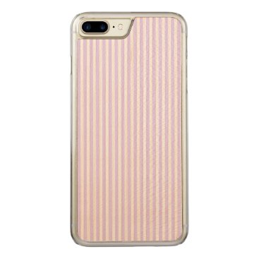 Beach Themed Wisteria Lilac Lavender Orchid & White Stripe Carved iPhone 7 Plus Case