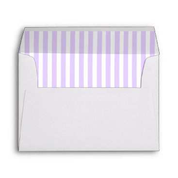 Beach Themed Wisteria Lilac Lavender Orchid & White Stripe Envelope