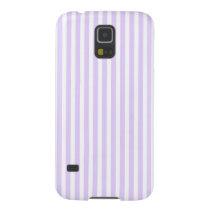 Wisteria Lilac Lavender Orchid & White Stripe Galaxy S5 Case