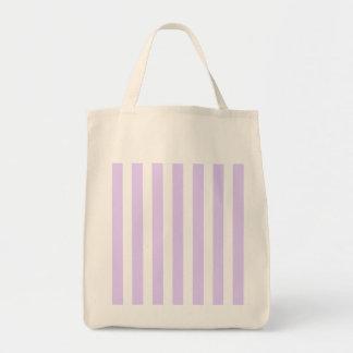 Wisteria Lilac Lavender Orchid & White Stripe Grocery Tote Bag