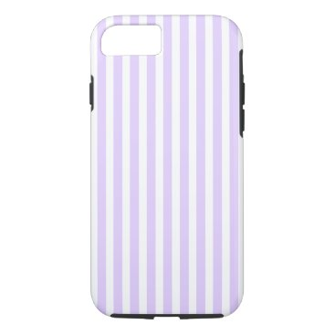 Beach Themed Wisteria Lilac Lavender Orchid & White Stripe iPhone 7 Case
