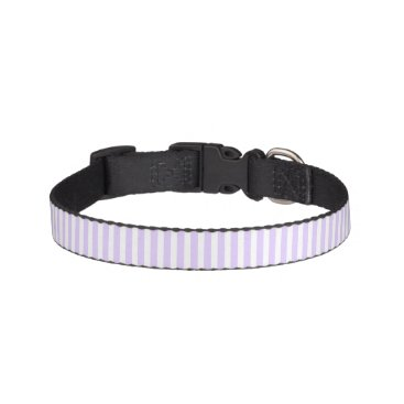 honor_and_obey Wisteria Lilac Lavender Orchid & White Stripe Pet Collar