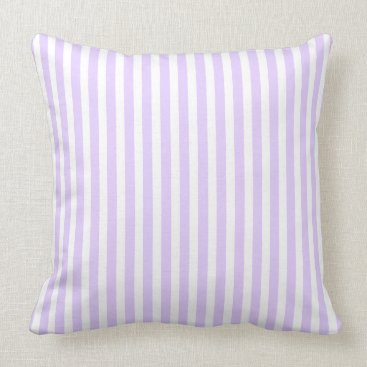Beach Themed Wisteria Lilac Lavender Orchid & White Stripe Throw Pillow