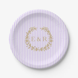 Wisteria Lilac Pastel Lavender Orchid Wreath/Sprig Paper Plate