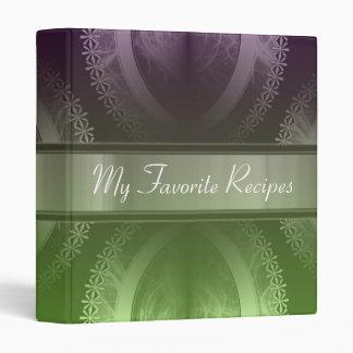 Wisteria Lime Smoke Recipe Book Vinyl Binders