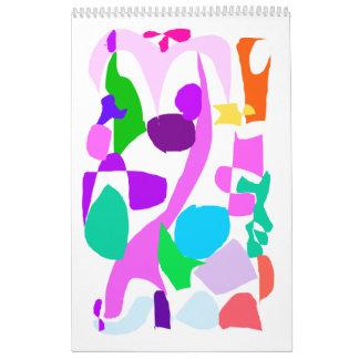 Wisteria May Rain Shade Drink Wall Calendar