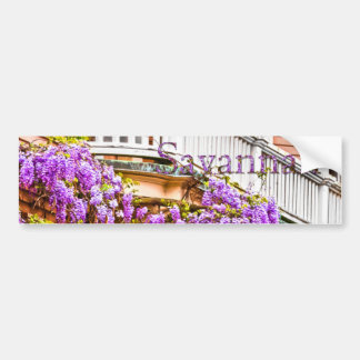 Wisteria on a Vintage Southern  Home in Savannah Bumper Sticker