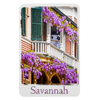 Wisteria on a Vintage Southern  Home in Savannah Magnet