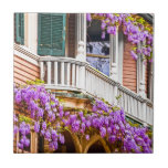 Wisteria on a Vintage Southern  Home in Savannah Ceramic Tile