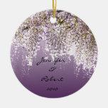 Wisteria on Lavender Christmas Tree Ornament