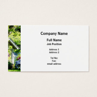 Wisteria on Lawn Business Card