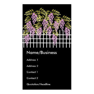Wisteria on the Fence Business Card