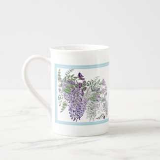 Wisteria Profusion Botanique Bone China Mug