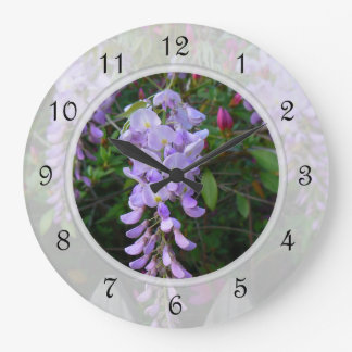 Wisteria Purple Flowering Vine Large Clock