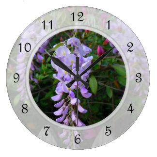 Wisteria Purple Flowering Vine Wallclock