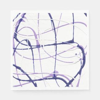 Wisteria Purple Paint Splatter Napkins