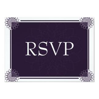 Wisteria Rosettes RSVP Card