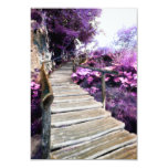 "wisteria stairs 3.5"" x 5"" invitation card"