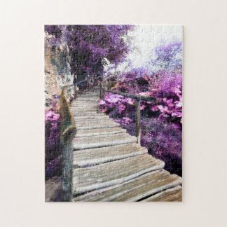 wisteria stairs jigsaw puzzle