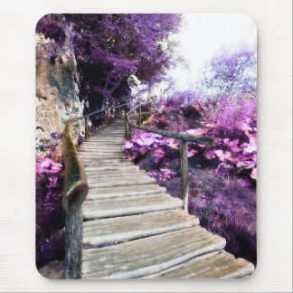 wisteria stairs mouse pad
