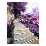 wisteria stairs photo print