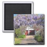 wisteria trellis driveway 2 inch square magnet