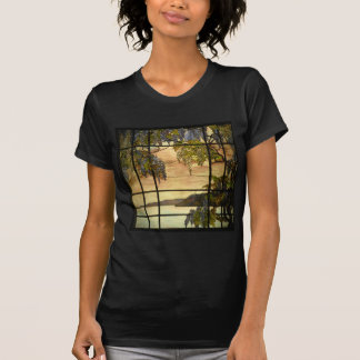 Wisteria vines in stained glass T-Shirt