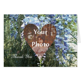 Wisteria Wedding Thank You Photo Ready Card