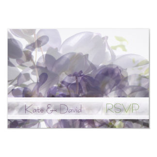 Wisteria Whisper/Wedding or All-Occasion RSVP Card