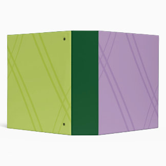Wisteria/YellowGreen Crissed Crossed Binder