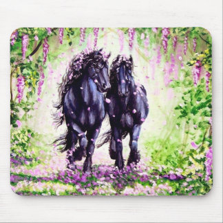 Wistful Friesians Mouse Pad