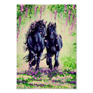 """Wistful Friesians"" Poster"