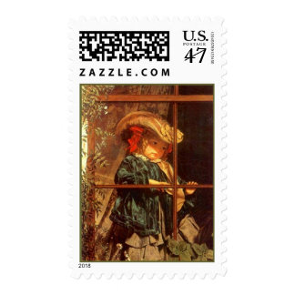 Wistful Nature Girl VICTORIAN Fashions STAMPS! Postage