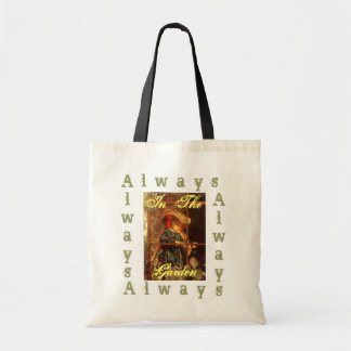 Wistful Victorian Peering Out Window Outdoors Canvas Bags