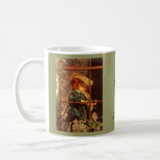 Wistful Victorian Peering Out Window Outdoors Classic White Coffee Mug