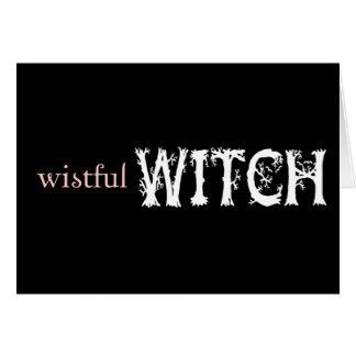 Wistful Witch Card